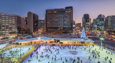 서울 시청광장 스케이트 장