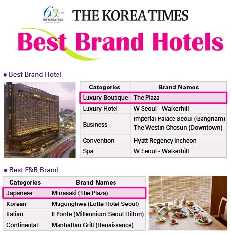 Korea Times Best Brand Hotel